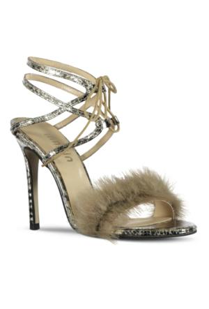 Marjin Kila Topuklu Ayakkabı Altın