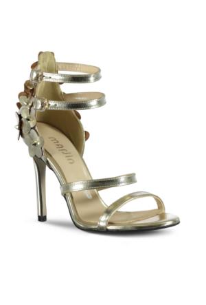 Marjin Olavo Topuklu Ayakkabı Altın