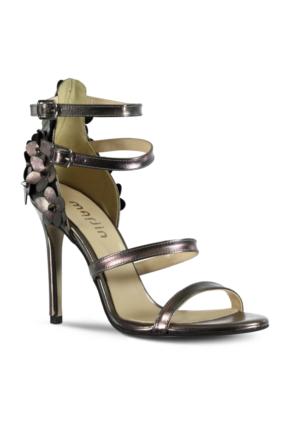 Marjin Olavo Topuklu Ayakkabı Gümüş