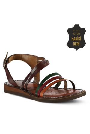 Marjin Bani Düz Deri Sandalet Multi