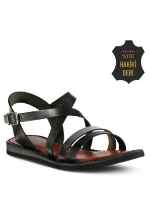 Marjin Salise Düz Sandalet Gümüş