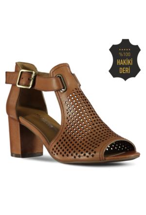 Marjin Osna Topuklu Ayakkabı Taba