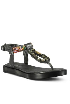 Marjin Satigo Düz Sandalet Gümüş