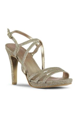 Marjin Minas Abiye Ayakkabı Altın