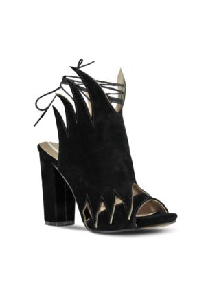 Marjin Eryal Topuklu Ayakkabı Siyah Süet