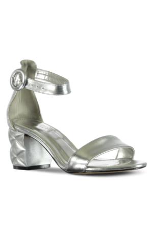 Marjin Pİrite Topuklu Ayakkabı Gümüş