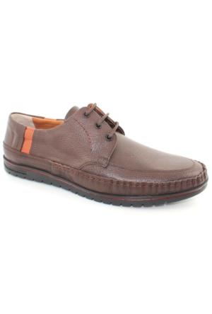 Bemsa 973 Kahverengi Günlük Deri Erkek Ayakkabı