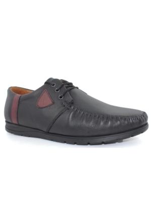 Bemsa 471 Siyah Erkek Deri Günlük Ayakkabı