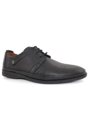 Bemsa 2031 Siyah Erkek Deri Günlük Ayakkabı