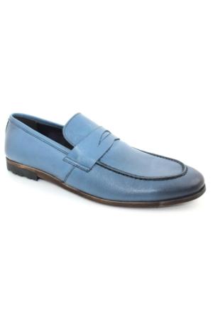 Yakut Cho West 3074 Mavi Günlük Deri Erkek Ayakkabı