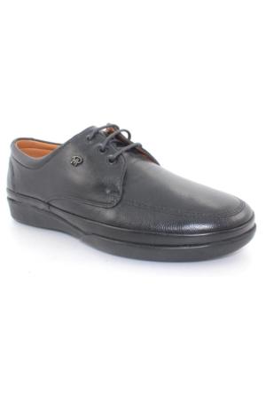 King Paolo 8416 Siyah Deri Erkek Ayakkabı