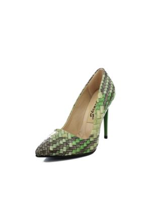 Edways Yeşil Kadın Stiletto