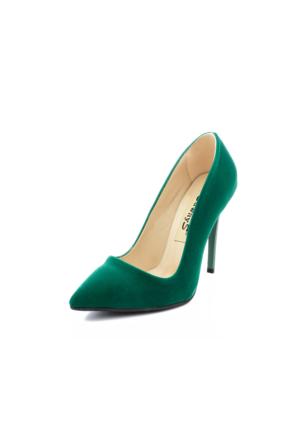 Edways Yeşil Nubuk Kadın Stiletto