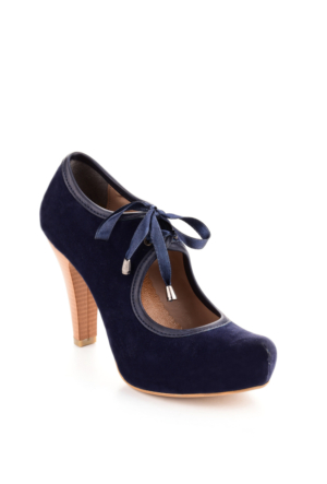 Edways Lacivert Nubuk Bayan Ayakkabı