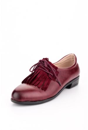 Edways Bordo Bayan Ayakkabı
