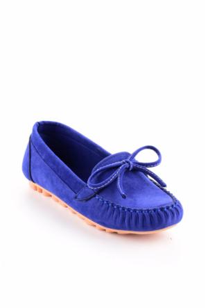 Edways Mavi Nubuk Bayan Ayakkabı