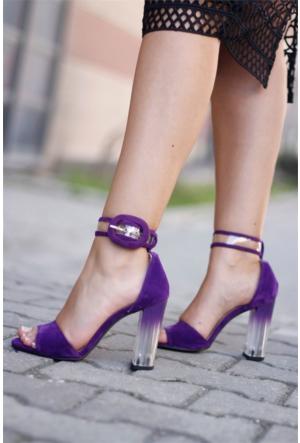İnce Topuk Şeffaf Topuklu Ayakkabı 7YAZA0165662