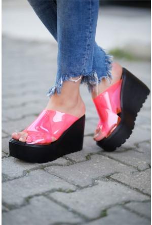 İnce Topuk Şeffaf Dolgu Topuk Ayakkabı 7YAZA0270791