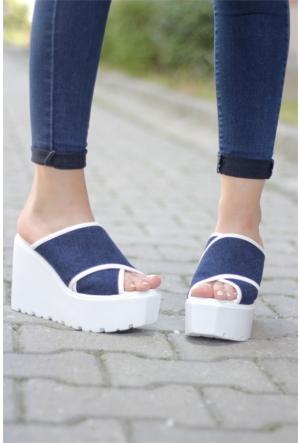 İnce Topuk Şeffaf Dolgu Topuk Ayakkabı 7YAZA0271795