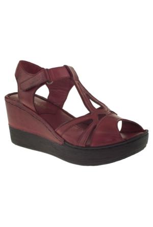Venüs 094-043 Bordo Kadın Sandalet