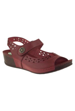Muya 27127 Tek Cırt Kırmızı Bayan Sandalet