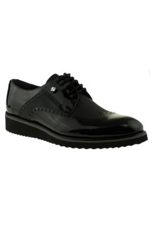 Fosco 7504 Oxford Bağlı Klasik Siyah Erkek Ayakkabı
