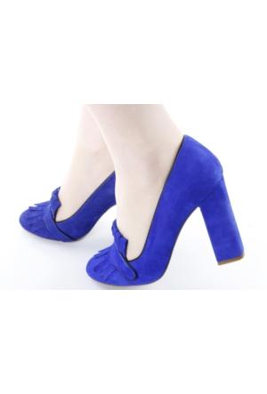 Veyis Usta Süet Kalın Topuk Bayan Ayakkabı 165