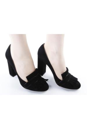 Veyis Usta Süet Kalın Topuk Bayan Ayakkabı 164