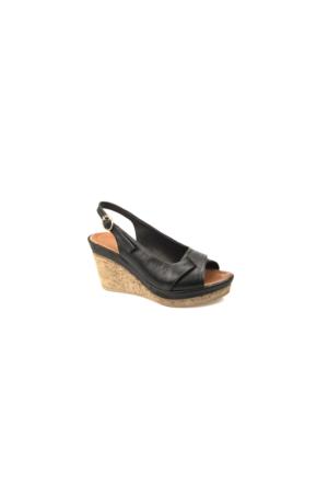 Ziya Kadın Hakiki Deri Sandalet 7131 5064 Siyah