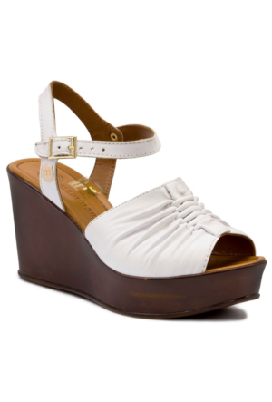 Mammamia D17Ys1225 Beyaz Terlik-Sandalet