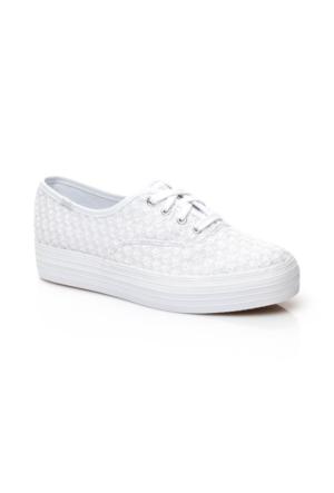 Keds Triple Kadın Beyaz Sneaker WF56506
