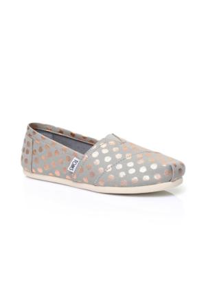 Toms Alpargata Gri Kadın Ayakkabı 10009714