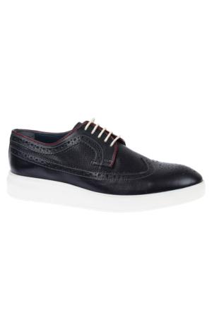 Shalin 1009 Lacivert Hakiki Deri Erkek Ayakkabı