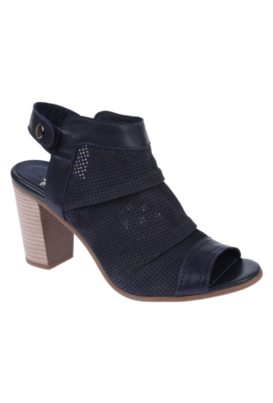 İloz 123680 Lacivert Nubuk Hakiki Deri Bayan Ayakkabı