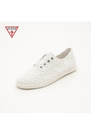 Guess White White Fl5Tu3 Lac12 Tucci3 Active Lady Fabric White White Ayakkabı