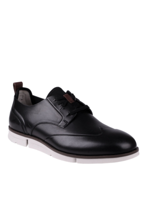 Clarks Black Leather 261238317 Trigen Wing Clarks Ayakkabı