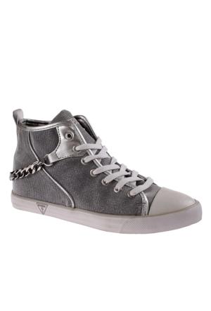 Guess Fl2Nni Fam12 Anni Active Woman Glitter Fabr Silver Ayakkabı