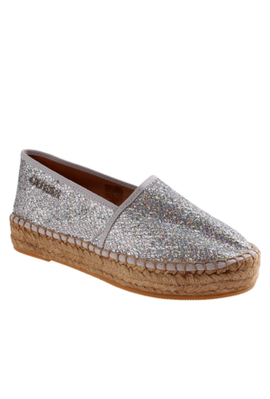 Guess Fl2Rna Fam14 Rosina Mocassin Glitter Fabric Silver Ayakkabı