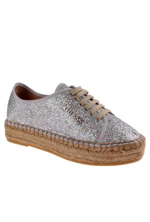 Guess Fl2Rta Fam13 Rosita Derby Glitter Fabric Silver Ayakkabı