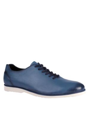 John May Navy Blue Mr-8730 Leather John May Ayakkabı