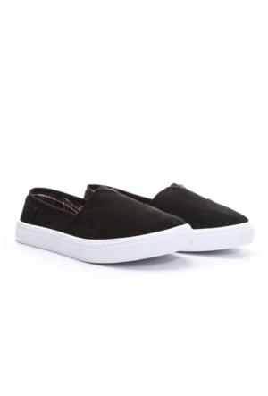 19V69 Italia Bayan Keten Ayakkabı Siyah