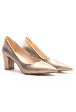 B.F.G Polo Style Bayan Stiletto Ayakkabı Altın