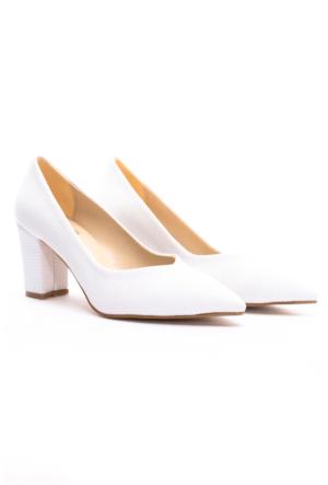 B.F.G Polo Style Bayan Stiletto Ayakkabı Beyaz