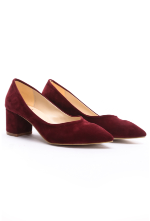B.F.G Polo Style Bayan Stiletto Ayakkabı Bordo