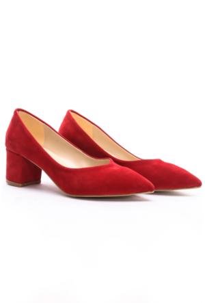 B.F.G Polo Style Bayan Stiletto Ayakkabı Kırmızı