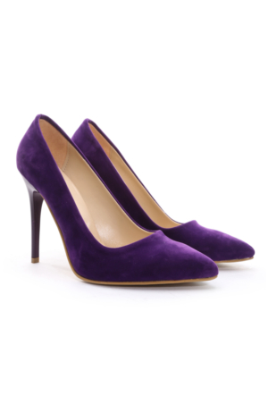 B.F.G Polo Style Bayan Stiletto Ayakkabı Mor