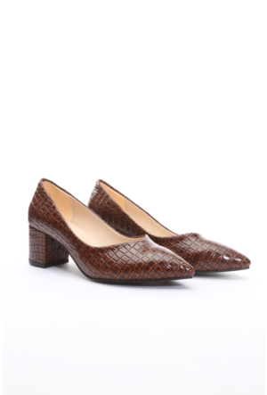 Limited Edition Bayan Stiletto Ayakkabı Kahverengi