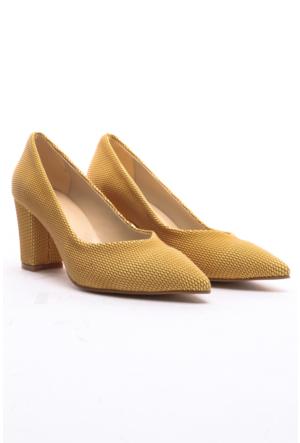 Limited Edition Bayan Stiletto Ayakkabı Sarı