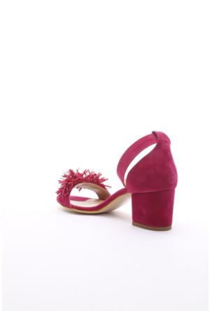 PNK Bayan Topuklu Sandalet Fuşya