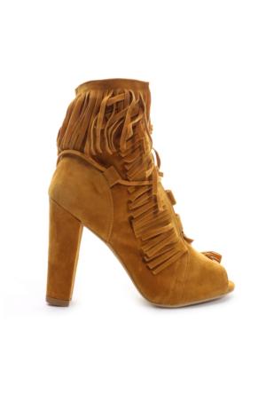 Shoes&Moda Bayan Bootie Kahverengi